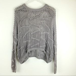 Sparkle and Fade Gray Knit Pullover Sweater XS